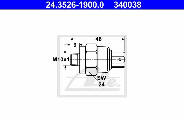 Schalter Bremsleuchte ATE 24.3526-1900.0