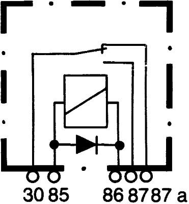 HELLA Relais Arbeitsstrom 4RD 007 794-041 5-polig