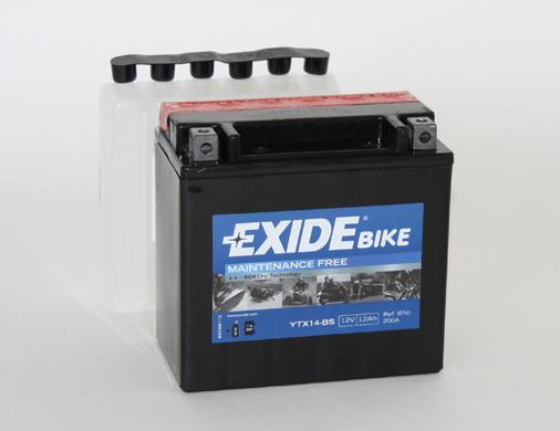 Motorrad Batterie EXIDE YTX14-BS für BMW F 800 800 K 1200 R 1200 K 1300