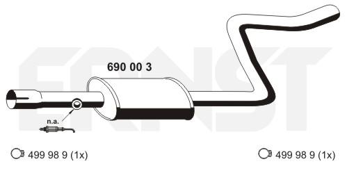 ERNST Mittelschalldämpfer 690003