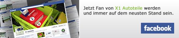 X1-Autoteile auf Facebook - jetzt Fan werden